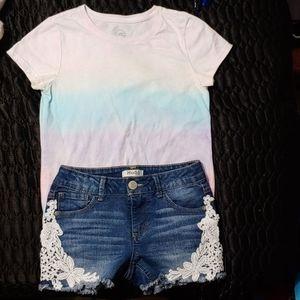 Pre-Loved Girl's Mudd Shorts & Wonder Nation Tee